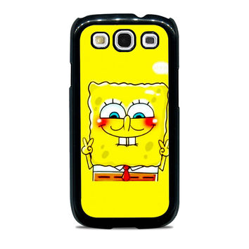 spongebob and patrick best friend 1 cartoon couple Samsung Galaxy S3 Case