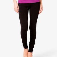Foldover Skinny Workout Pants