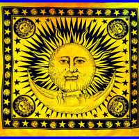 Indian Sun Hippie Wall Decor Tapestry art Wall Hanging hippy Throw Cotton Bed cover Bohemian Decor sheet BedSpread Ethnic Decorative Art