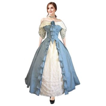 Women Victorian Lolita Dresses Lace Maxi Medieval Renaissance Corset Halloween Costumes Ball Gown