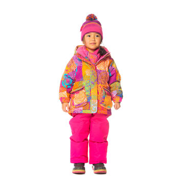 Deux Par Deux Girls Snowsuit & Neck Warmer Three Piece Across the Universe