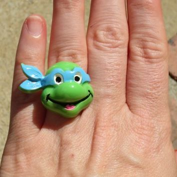 TMNT Teenage Mutant Ninja Turtle Sterling Silver Plated Rings