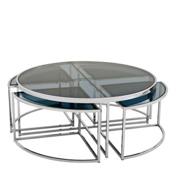 Eichholtz Padova Coffee Table - Nickel