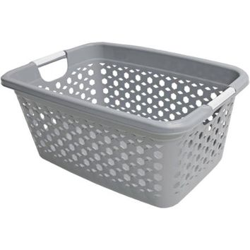 Home Logic 1.5-Bu Linked Impressions 3D Textured Laundry Basket, Hi-Grey - Walmart.com