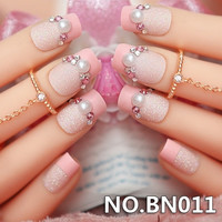 BN011 The bride Manicure finished high-grade false nail patch bride fake nails nail products