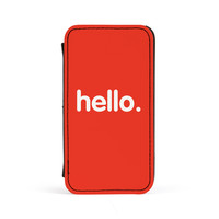 Hello Premium Faux PU Leather Case Flip Case for Apple iPhone 4 / 4s by textGuy