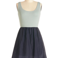 ModCloth Mid-length Tank top (2 thick straps) A-line Breeze the Boardwalk Dress