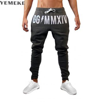 Men Fitness Sweatpants male gyms Bodybuilding workout cotton trousers Casual Joggers sportswear Sweet pants