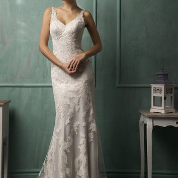 Cap Sleeve Open Back Floor Length See Through Lace Corset Wedding Dresses 2015 Women Bridal Gown With Long Train