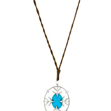 Cathy Waterman Turquoise and Diamond Necklace