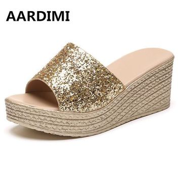 Summer Women Sandals on the platform shoes for women wild simple slippers clogs for women summer footwear female shoes with heel