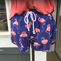 Flamingo Print Lounge Shorts