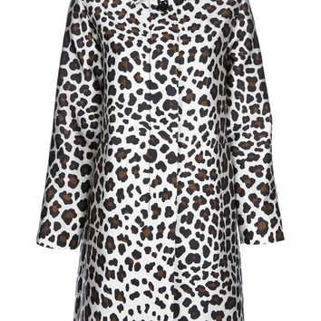 Marc Jacobs Silk Leopared Print Coat