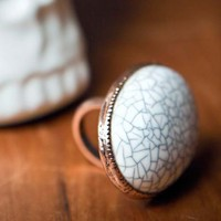 NEVEREVER | Cracked Stone Ring