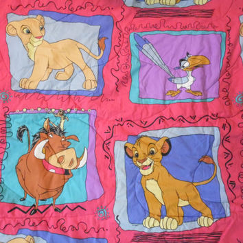 FREE SHIPPING - The Lion King Comforter/Lion King Flat Sheet/Lion King Fitted Sheet/Lion King Pillow Case/Disney Lion King/Vintage Lion King