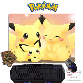 New Pikachu - Pokemon Anime Gaming Mouse Pad Deluxe Multipurpose Playmat GZFONG-P09