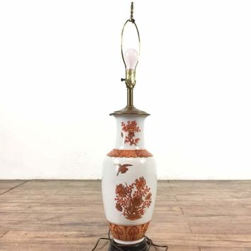 Vintage Hand-Painted Asian Table Lamp