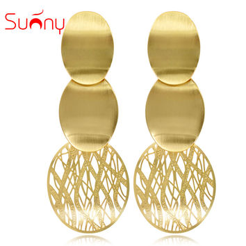 Sunny Jewelry Drop Earrings For Women Long Earrings Big Earrings 2017 Mother's Day Gift Fashion Women Jewelry Party Wedding