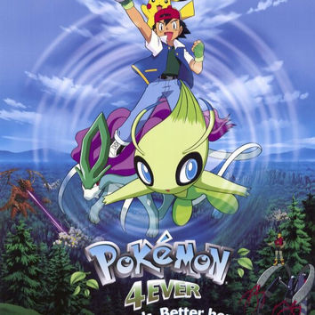 Pokemon 4ever 11x17 Movie Poster (2002)