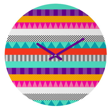 Elisabeth Fredriksson Happy Stripes 2 Round Clock