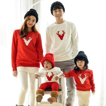Family Matching Clothes Christmas Pajamas Winter Cotton Long Sleeve Mother dad Children sweatshirt Kids Sleepwear Pajama CE120