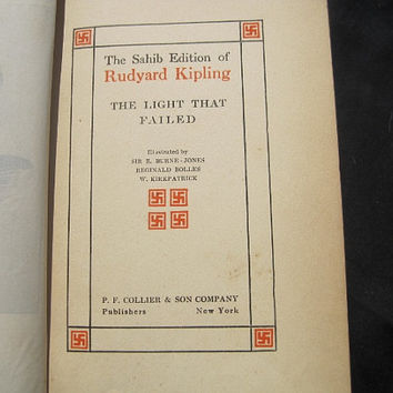 1920s The Light That Failed Rudyard Kipling Sahib Edition Vol 3 Hardcover