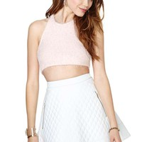Nasty Gal Naomi Quilted Skirt - White