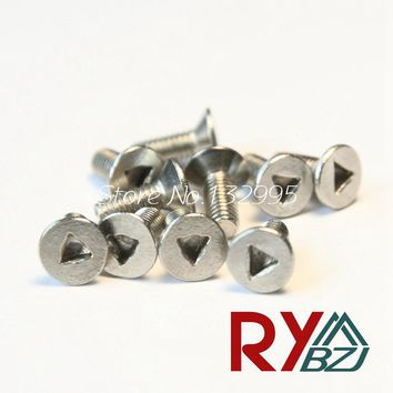Stainless Steel A2 Triangle drive Flat Head Screw