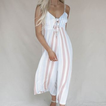 Rossi Chambray Striped Jumpsuit