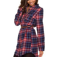 Jennie Plaid Dress - Red