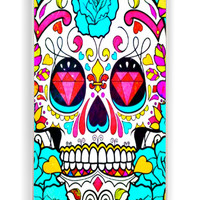 Skull Flowers for Iphone 4 / 4s Hard Cover Plastic