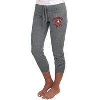 San Francisco 49ers Ladies Fourth Down Tri-Blend Capri Pants - Ash
