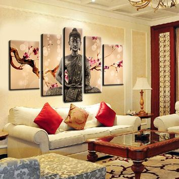 Buddha Oil Painting Canvas Wall Art