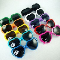 Love Heart Shape Fashion Men Women Vintage Sunglasses 10 Colors -You Choose