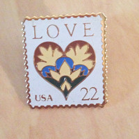 Vintage Love Stamp USA Pin - Vintage Pin - Collectors USA Stamp Pin - The March Co.