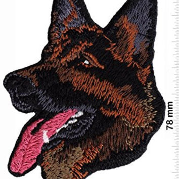 POLICE K9 UNIT German Shepherd Alsation Dog Army Military Logo Jacket Uniform Patch Sew Iron on Embroidered Sign Badge Costume