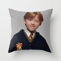 Ron Throw Pillow by Max Jones | Society6