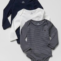 Gap Baby Favorite Long Sleeve Bodysuit 3 Pack