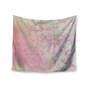 """Cafelab """"Spring Damask """" Pink White Wall Tapestry"""