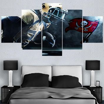 Sport Team Logo Paintings Tampa Bay Buccaneers Modern Home Decor Living Room Bedroom Wall Art Canvas Print Painting Calligraphy