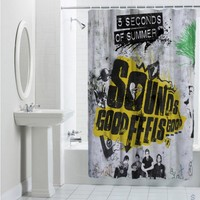 Sell 5 Seconds Of Summer Sounds Good Feels Good Album Cover Shower Curtain Cheap