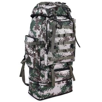 Sports gym bag Outdoor 100L Large Capacity Mountaineering Backpack Camping Hiking Military Molle Camo Water-repellent Tactical Bag Adjustable KO_5_1