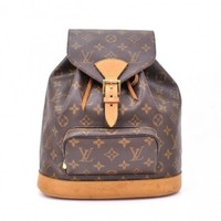 Louis Vuitton Moyen Montsouris Brown Monogram Canvas MM Backpack