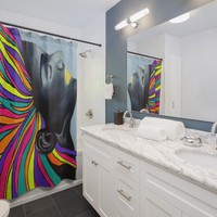 Neon Glory Shower Curtain