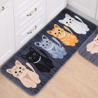 New Arival Indoor Porch Doormat Non-Slip Door Mats Animal Printed Area Rug Home Room Kitchen Carpet Toilet Tapete Alfombras