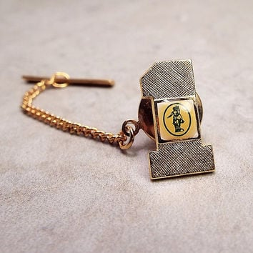 Revere Ware Tie Tack, Vintage Tie Tack, Paul Revere Number 1, Award Jewelry, Horse Rider, Gold Tone, Company Jewelry, Vintage Tack Pin