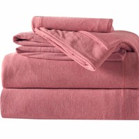 3-Piece Melange Jersey Knit Twin XL Sheet Set