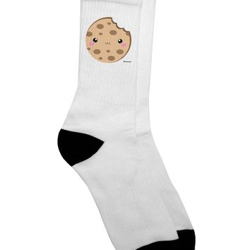Cute Matching Milk and Cookie Design - Cookie Adult Crew Socks - by TooLoud