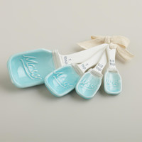 Mason Jar Ceramic Measuring Spoons - World Market