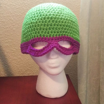 Teenage Mutant Ninja Turtle Mask Hat - (Custom Order)